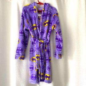 DC Comics Batgirl Plush Hooded Robe NWOT Sz 6